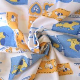 Tissu de coton au mètre petits chiens pas cher