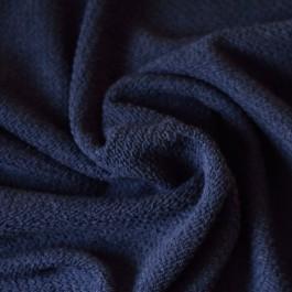 Tissu éponge texturé bleu marine
