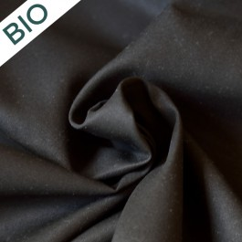 Gabardine fine noire en coton bio