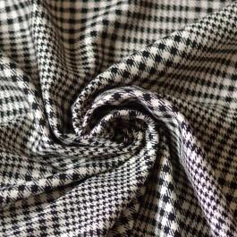 Tissu au mètre lainage prince de galles laine et soie