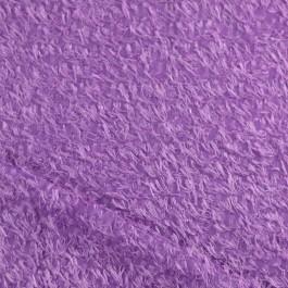 Tissu poilu mauve