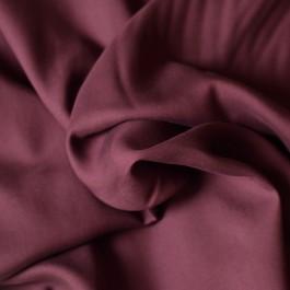 Tissu tencel bordeaux doux et fluide au mètre