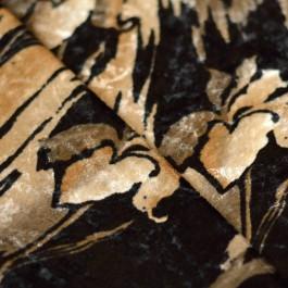 tissu panne de velours grandes fleurs