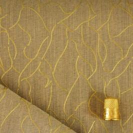 Coupon de 1,40 m de tissu impression or