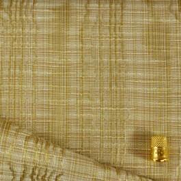 Tissu doré à reliefs