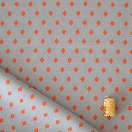 Tissu viscose à motifs gemstone orange