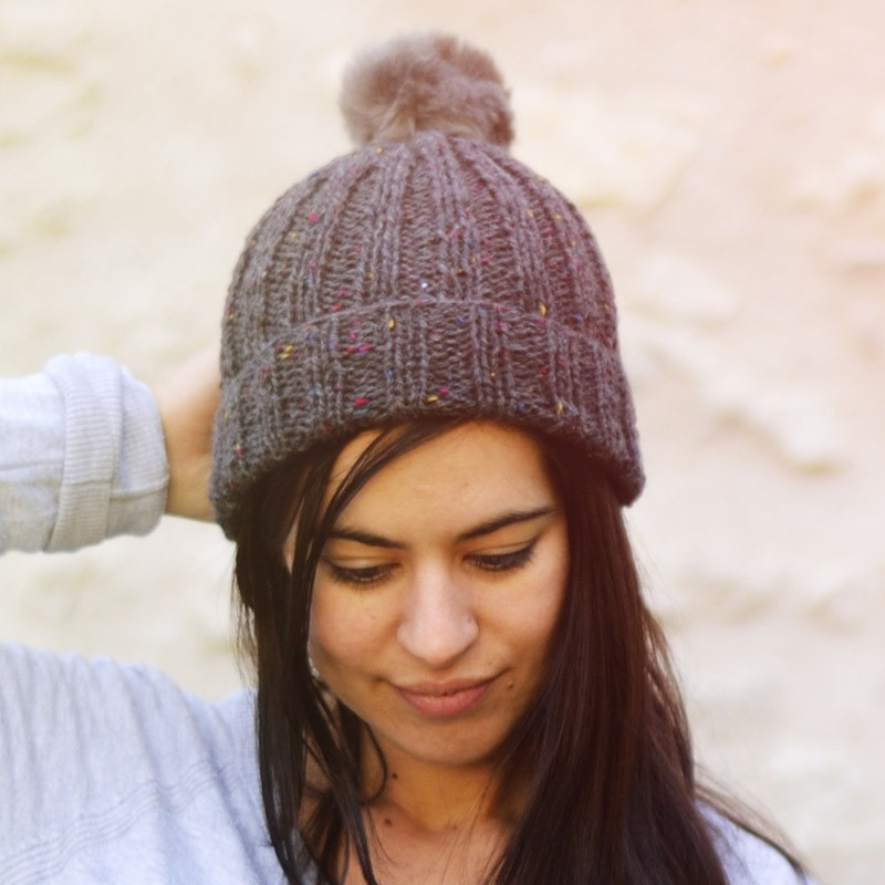 kit tricot bonnet pompon