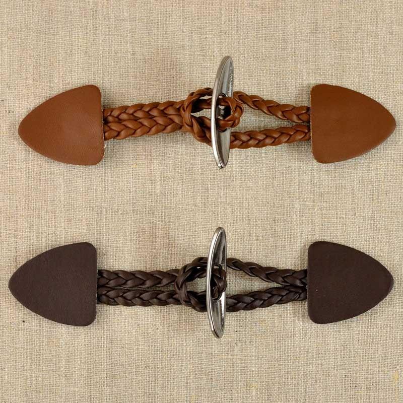 Brandebourg simili cuir tress et m tal 160 mm a a patrons for Brandebourg mercerie