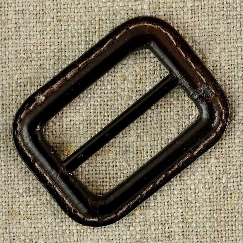Boucle de ceinture cuir et métal, marron ou noir - A A Patrons c07065b1da7