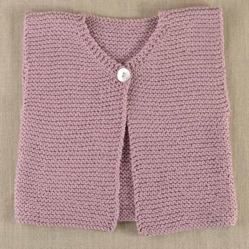 Kit tricot bébé Gilet sans manches Elie - A&A Patrons
