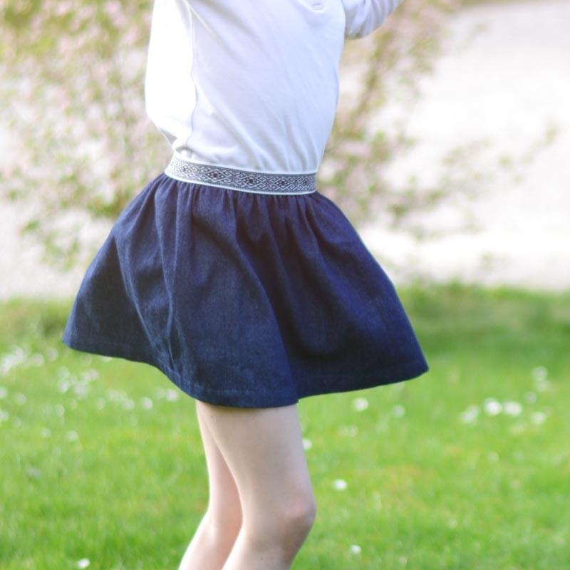 Kit couture jupe enfant 2 10 ans a a patrons - Patron jupe elastique fille ...