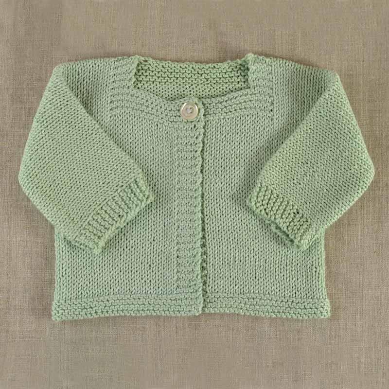 modele gilet bebe a tricoter