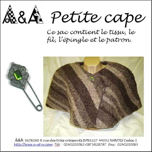 patron de couture petite cape p1300 et son kit a a patrons. Black Bedroom Furniture Sets. Home Design Ideas