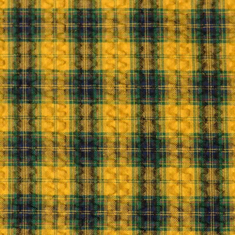 tissu carreaux seersucker jaune a a patrons. Black Bedroom Furniture Sets. Home Design Ideas