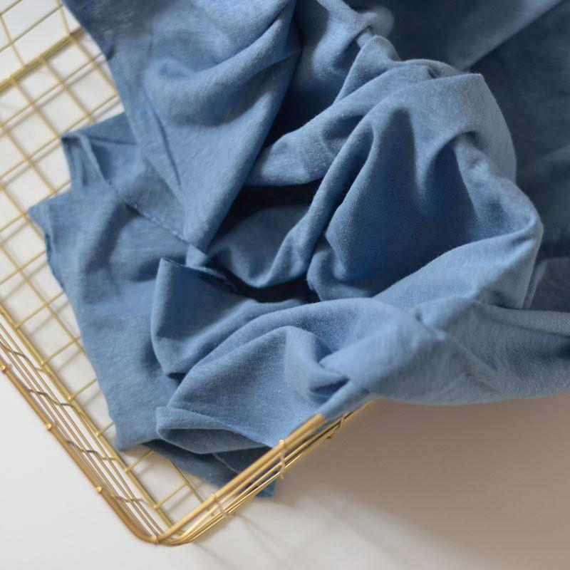 tissu jersey chanvre et coton bio bleu jean a a patrons