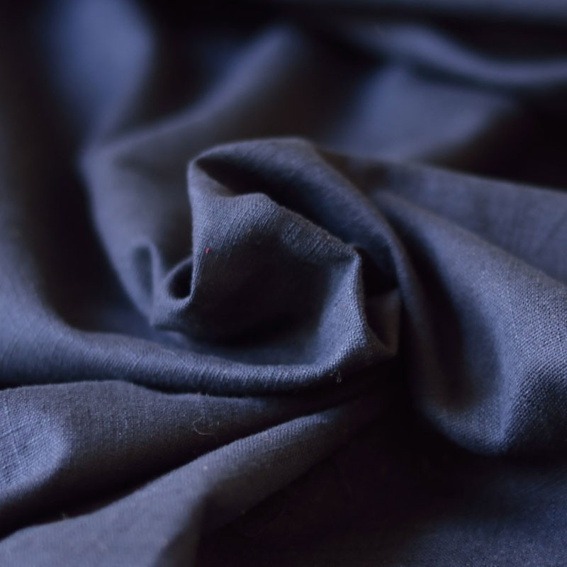 tissu lin bleu marine a a patrons. Black Bedroom Furniture Sets. Home Design Ideas