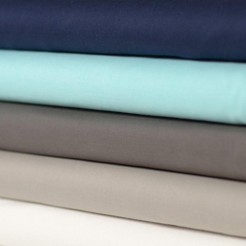 Tissu voile coton uni vert menthe taupe marron glac bleu marine blanc cass pas - Voile de forcage au metre ...