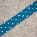 Biais à étoiles bleu turquoise