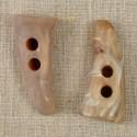 Bouton corne 50 mm