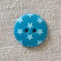 Bouton à étoiles bleu