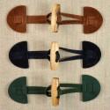 Brandebourg daim 15 cm à buchette bois