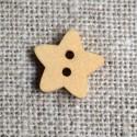 Bouton bois étoile