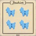 Bouton chèvre bleue enfant