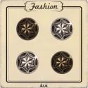 Bouton métal argent et bronze