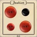 Bouton rouge et noir