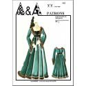 Patron historique de robe du Moyen-Âge P903