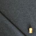 Coupon de 1,40 m de tissu sweat molleton gris foncé chiné
