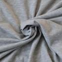 Jersey coton Bio gris clair chiné