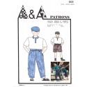 Patron de pantalon et bermuda P002