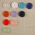 Bouton-pression plastique de couleur