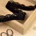 Ruban velours dentelle noir