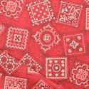 Tissu coton bandana rouge