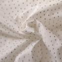 Tissu coton gouttes dorées sur blanc