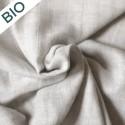Tissu lange double gaze de coton Bio gris chiné