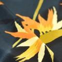 Tissu fluide grandes fleurs jaune