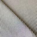 Coupon de 80 cm de toile de coton à carreaux bleu marine et blanc