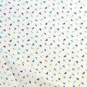 Tissu triangles bleu jaune coton