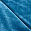 Tissu velours extensible fleurs bleu