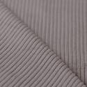 Tissu velours côtelé gris taupe