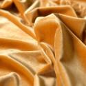 Tissu velours extensible fleurs jaune