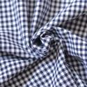 Tissu vichy à carreaux 5 mm bleu marine