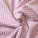 Tissu vichy à carreaux 5 mm vieux rose