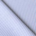 Tissu Vichy petits carreaux bleu clair