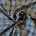 Tissu viscose fine à carreaux gris