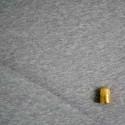 Coupon de 60 cm de maille jersey coton chiné gris BIO