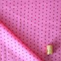 Tissu imprimé à étoiles framboise